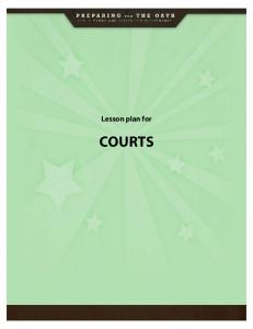 Lesson plan for COURTS