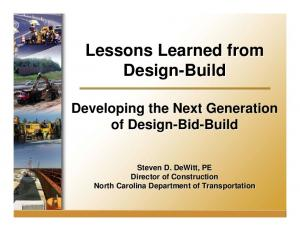 Lessons Learned from Design-Build