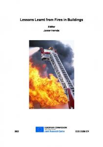 Lessons Learnt from Fires in Buildings