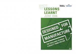LESSONS LEARNT JUNE 2006