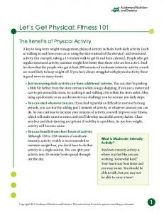 Let s Get Physical: Fitness 101