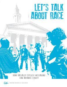 LET S TALK ABOUT RACE