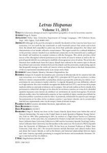 Letras Hispanas Volume 11, 2015