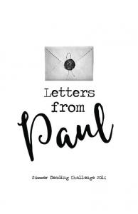 Letters from Paul Summer Reading Challenge 2016