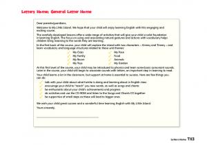 Letters Home: General Letter Home