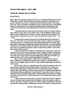 Letting Go: Smoking and non-smoking