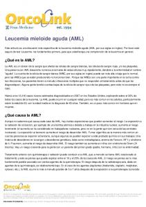 Leucemia mieloide aguda (AML)
