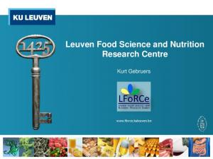 Leuven Food Science and Nutrition Research Centre