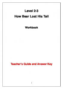 Level 2-3 How Bear Lost His Tail