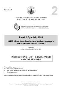 Level 2 Spanish, 2005
