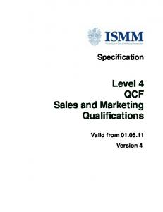 Level 4 QCF Sales and Marketing Qualifications