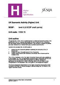level 6 (6 SCQF credit points)