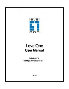 LevelOne. User Manual WBR Mbps N Wireless Router. Ver. 1.0