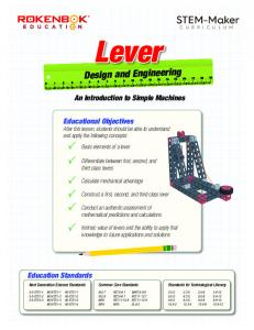 Lever. Design and Engineering. An Introduction to Simple Machines
