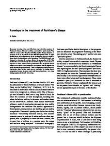 Levodopa in the treatment of Parkinson s disease