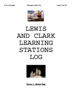 LEWIS AND CLARK LEARNING STATIONS LOG
