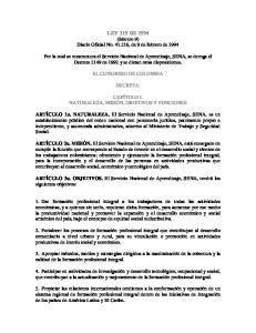 LEY 119 DE 1994 (febrero 9) Diario Oficial No , de 9 de febrero de 1994