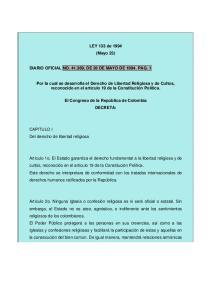 LEY 133 de 1994 (Mayo 23) DIARIO OFICIAL NO , DE 26 DE MAYO DE PAG. 1