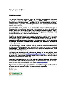 Ley 1581 de 2012 y el Decreto 1377 de 2013