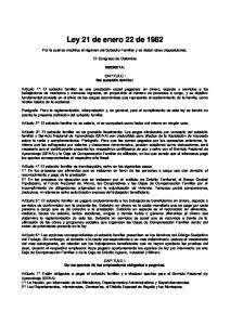 Ley 21 de enero 22 de 1982