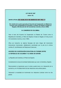 LEY 350 DE 1997 (enero 16) DIARIO OFICIAL NO , DE 21 DE ENERO DE PAG. 17