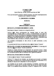 LEY 488 DE 1998 (diciembre 24) Diario Oficial No , de 28 de diciembre de 1998