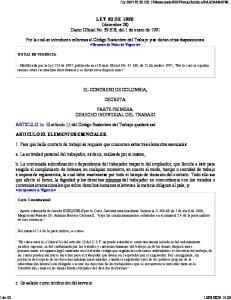 LEY 50 DE 1990 (diciembre 28) Diario Oficial No , del 1 de enero de 1991