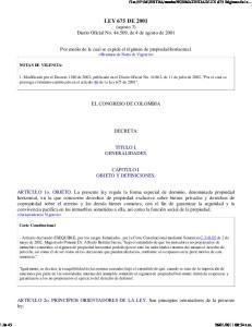 LEY 675 DE 2001 (agosto 3) Diario Oficial No , de 4 de agosto de 2001