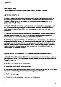 LEY 820 DE 2003 ARRENDAMIENTO DE INMUEBLES DESTINADOS A VIVIENDA URBANA