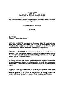 LEY 820 DE 2003 (julio 10) Diario Oficial No , de 10 de julio de 2003