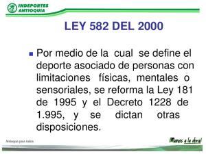 LEY 845 DE Por la cual se dictan normas de prevención y lucha contra el dopaje, se modifica la Ley 49 de 1993 y se dictan otras disposiciones