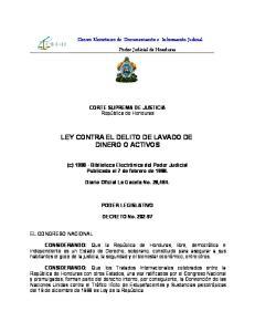 LEY CONTRA EL DELITO DE LAVADO DE DINERO O ACTIVOS