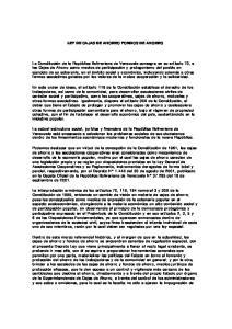LEY DE CAJAS DE AHORRO FONDOS DE AHORRO