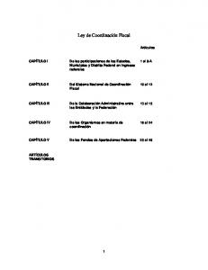 Ley de Coordinación Fiscal