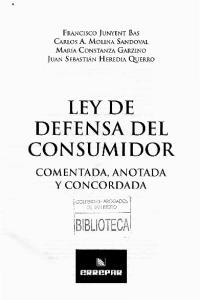 LEY DE DEFENSA DEL CONSUMIDOR