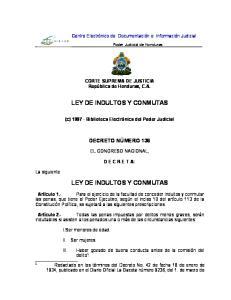 LEY DE INDULTOS Y CONMUTAS