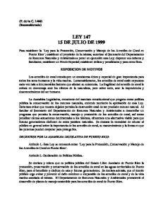 LEY DE JULIO DE 1999
