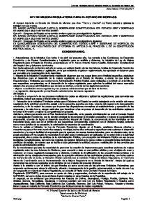 LEY DE MEJORA REGULATORIA PARA EL ESTADO DE MORELOS