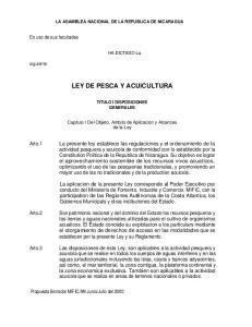 LEY DE PESCA Y ACUICULTURA