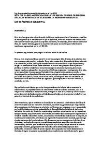 LEY DE PROPIEDAD HORIZONTAL PREAMBULO