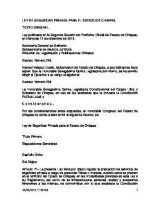 LEY DE SEGURIDAD PRIVADA PARA EL ESTADO DE CHIAPAS