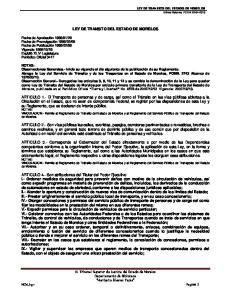 LEY DE TRANSITO DEL ESTADO DE MORELOS