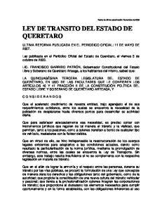 LEY DE TRANSITO DEL ESTADO DE QUERETARO