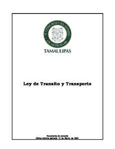 Ley de Transito y Transporte