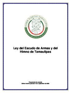 Ley del Escudo de Armas y del Himno de Tamaulipas
