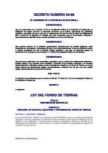 LEY DEL FONDO DE TIERRAS