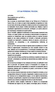 LEY del PERSONAL POLICIAL