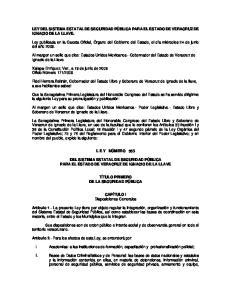 LEY DEL SISTEMA ESTATAL DE SEGURIDAD PÚBLICA PARA EL ESTADO DE VERACRUZ DE IGNACIO DE LA LLAVE