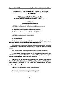 LEY GENERAL DE BIENES DEL ESTADO DE BAJA CALIFORNIA