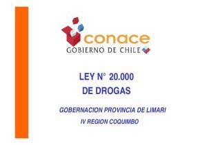 LEY N DE DROGAS